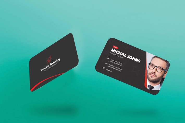 Thumbnail for Modern Visiting Card Template Download Element