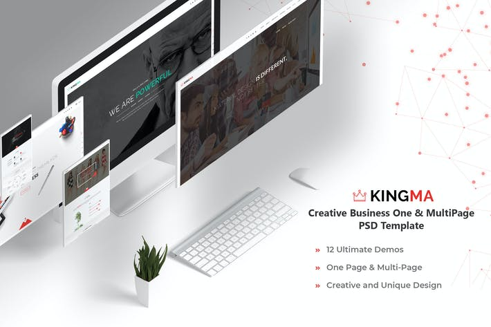 Thumbnail for Kingma-Creative Business One,MultiPage PSD Templat