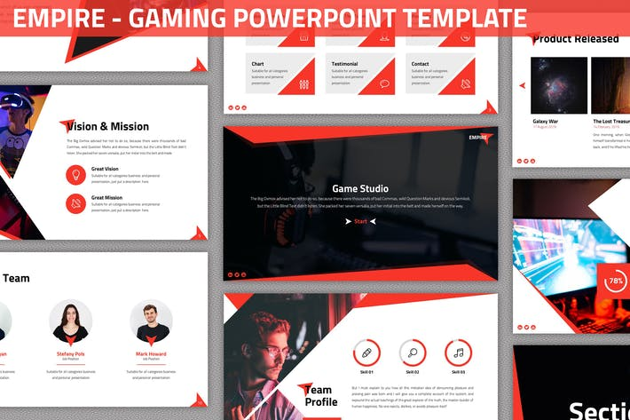 Thumbnail for Empire - Gaming Powerpoint Template