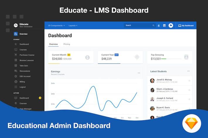 Learning Admin Dashboard