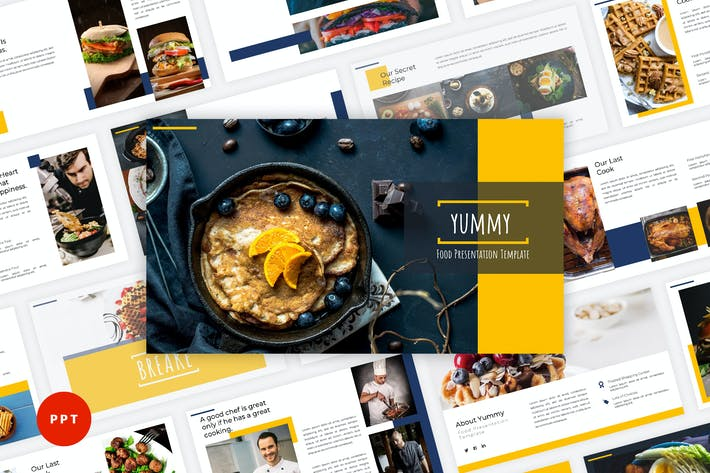 Thumbnail for Yummy - Food PowerPoint Template