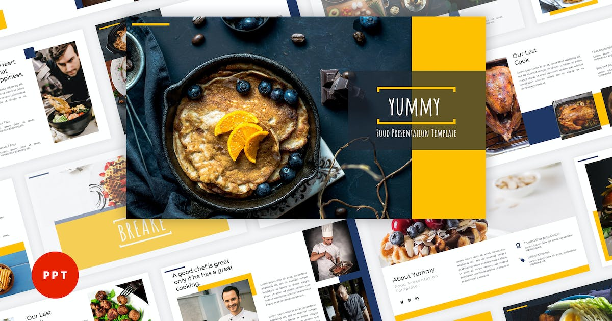 Download Yummy - Food PowerPoint Template by Graphiqa