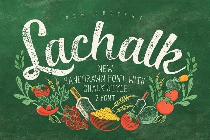 Thumbnail for LaChalk Typeface + Extras