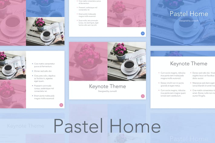 Thumbnail for Pastel Home Keynote Template