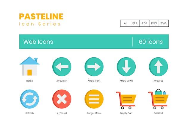60 Web Development Flat Icons