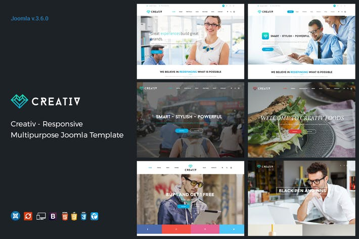 Thumbnail for Creativ - Responsive Multipurpose Joomla Template