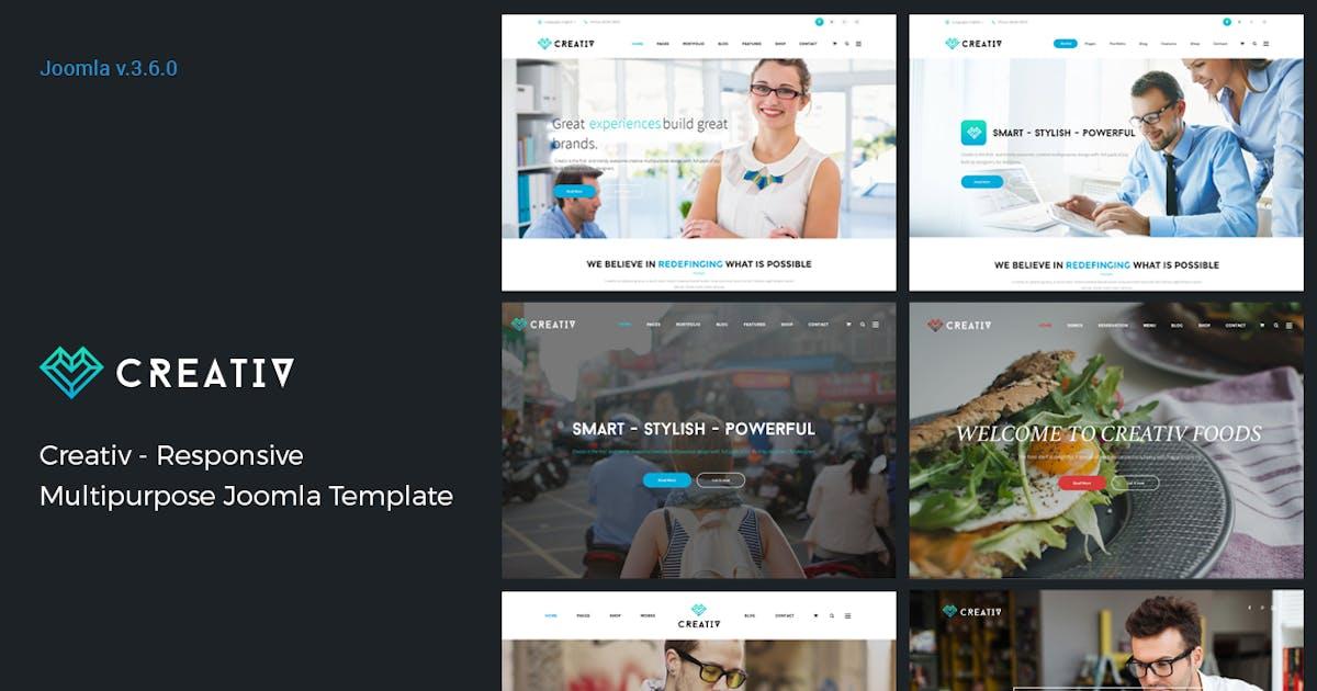 Download Creativ - Responsive Multipurpose Joomla Template by JoomlaBuff