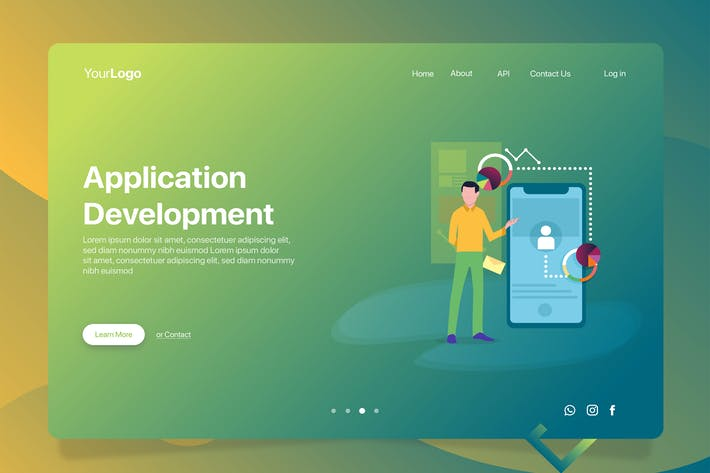 Thumbnail for Apps Development - Banner & Landing Page