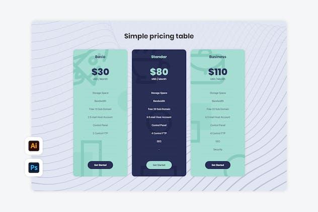 Pricing Table - Konsultan 2