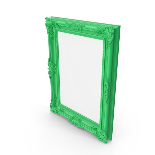 Cover Image for Green Baroque Picture Frame