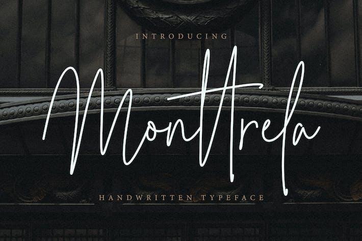 Thumbnail for Monttrela Handwritten Font