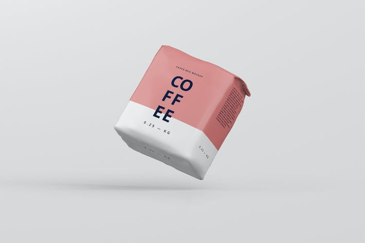 Thumbnail for Coffee Paper Bag Mockup Small Size