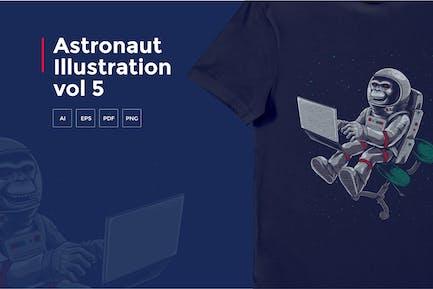 Astronaut Tshirt Graphic vol 5