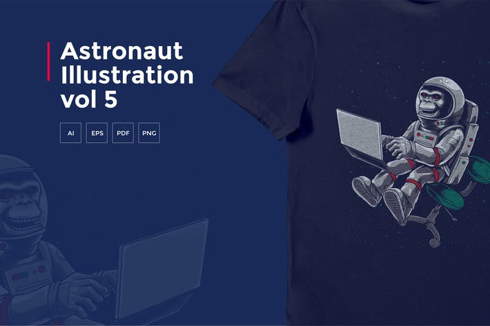 Thumbnail for Astronaut Tshirt Graphic vol 5