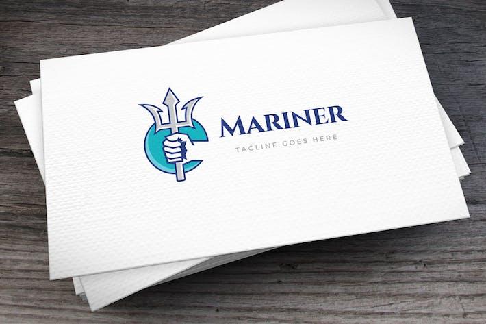 Thumbnail for Шаблон логотипа «Океан Бог»