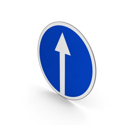 Verkehrszeichen fahren nur geradeaus