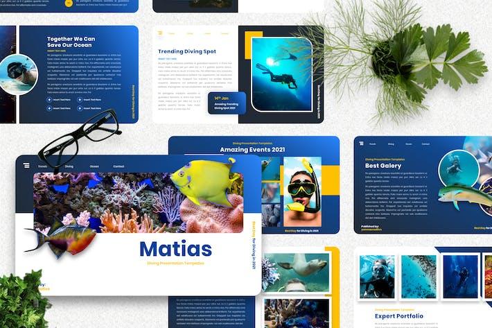 Матиас - Дайвинг Спорт Googleslide Шаблон