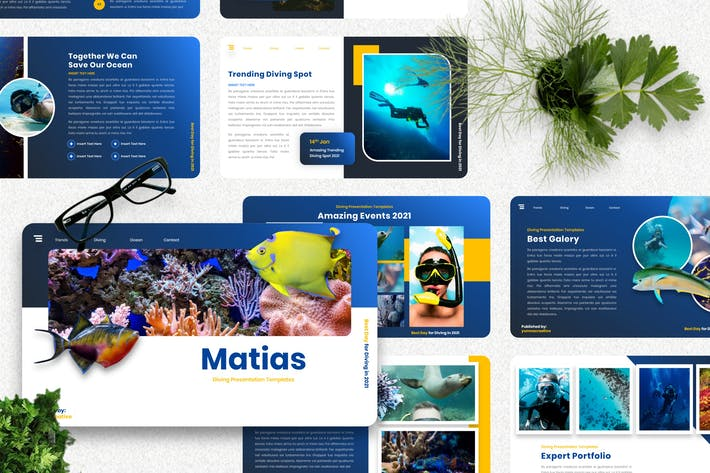 Thumbnail for Matias - Diving Sport Googleslide Template