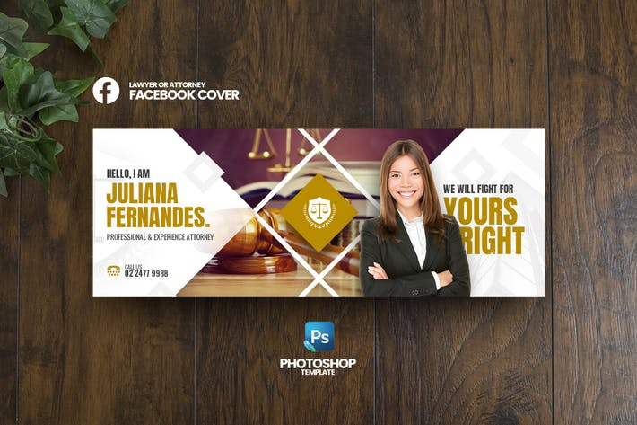 Thumbnail for Lawyer Facebook Cover Template