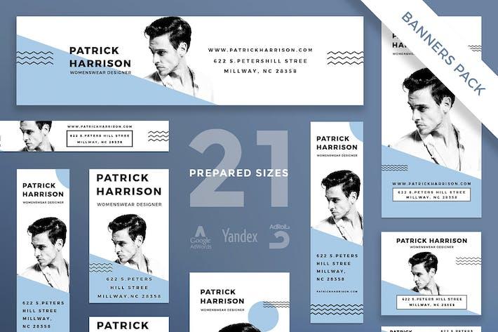 Thumbnail for Fashion Designer Banner Pack Template