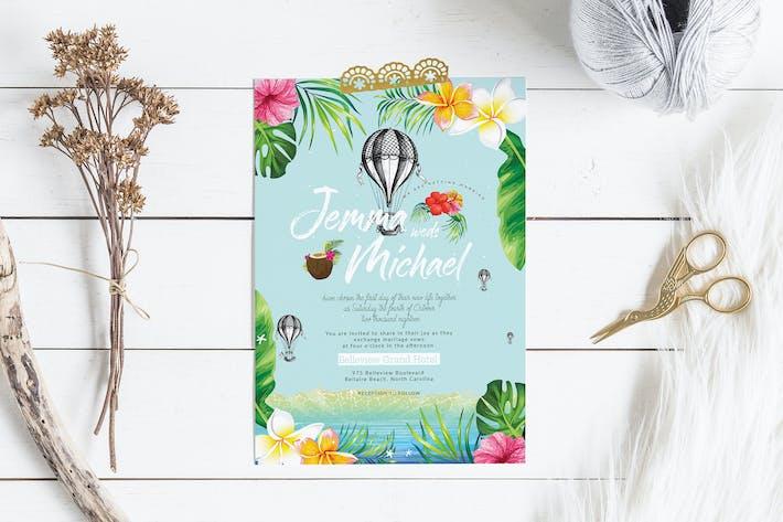 Thumbnail for Hawaii Wedding Invitation Card