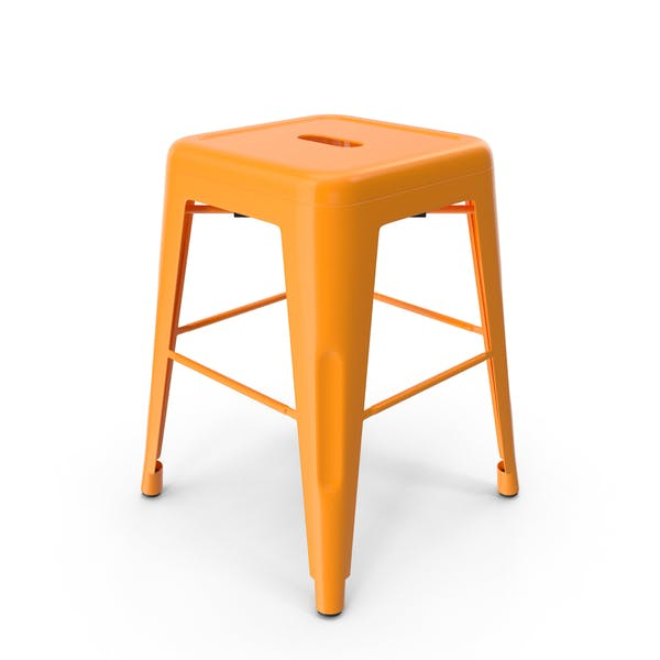 Thumbnail for Metal Stool Orange