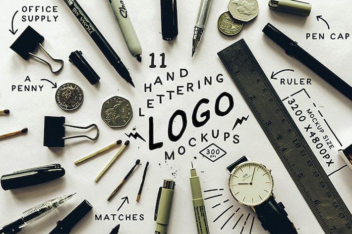 Thumbnail for Hand Lettering Logo Mockups