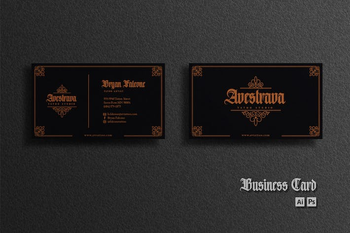 Thumbnail for Business Card - Black Copper