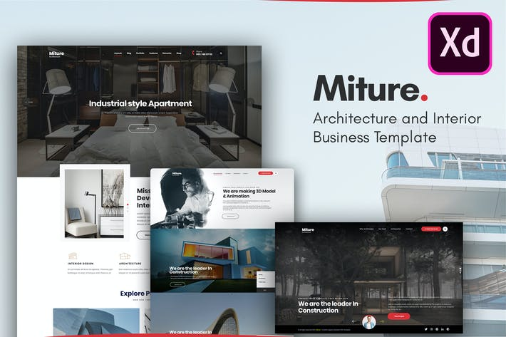 Miture - Architecture & Interior XD Template