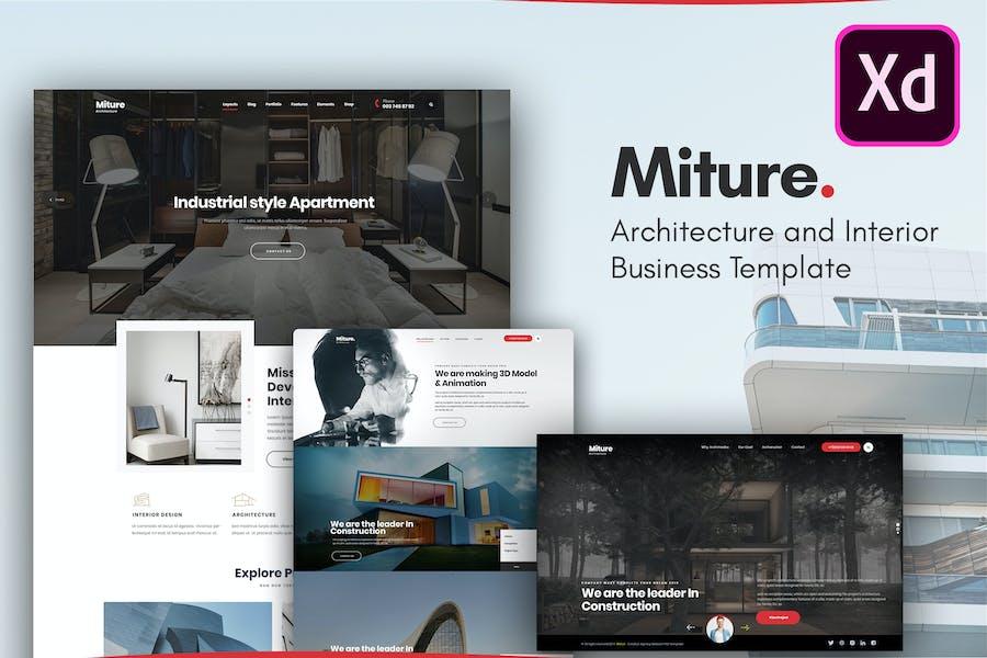 Miture - Architecture & Interior XD Template