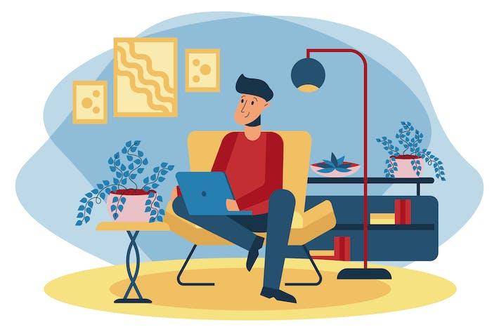 Thumbnail for Home Office Illustration