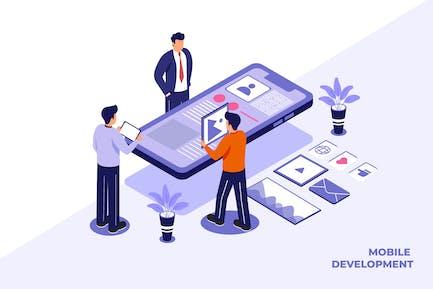 Mobile Entwicklung - Ilustration Vorlage