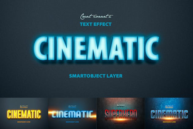 Cinematic 3D Text