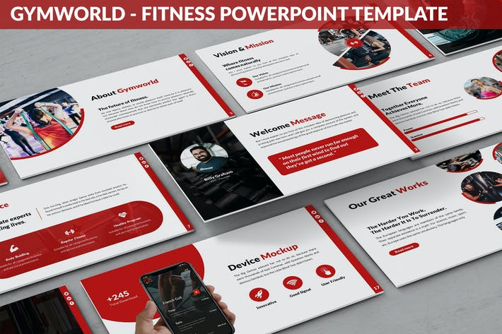 Thumbnail for Gymworld - Fitness Powerpoint Template