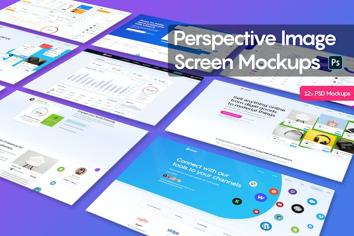 Thumbnail for Perspective Image Screen Mockups