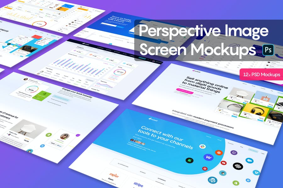 Perspective Image Screen Mockups