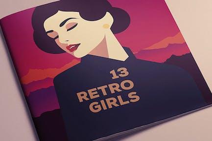 13 RetroGirls T-shirt Vector Designs