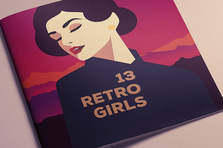 Thumbnail for 13 RetroGirls T-shirt Vector Designs