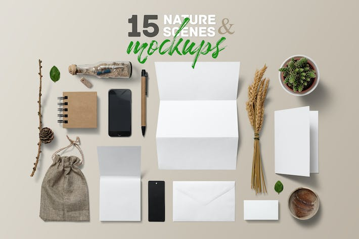 Thumbnail for 15 Nature Scenes & Mockups