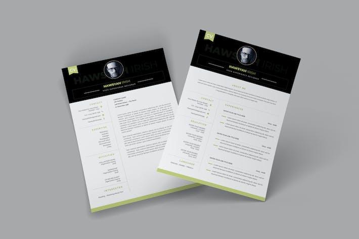 Thumbnail for User Experience CV Resume