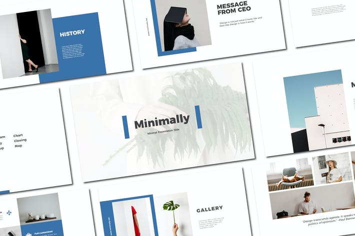 Cover Image For Minimally - Keynote Template