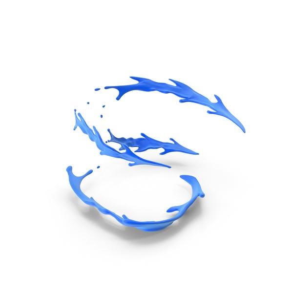 Спиральный брызг краски