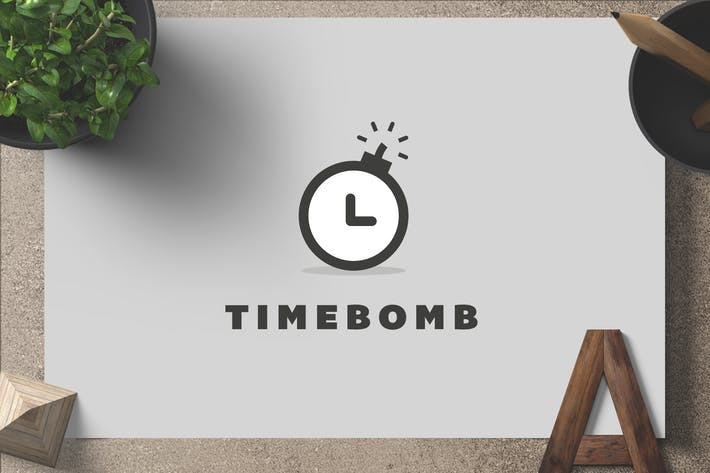 Thumbnail for Timebomb — Logo Template