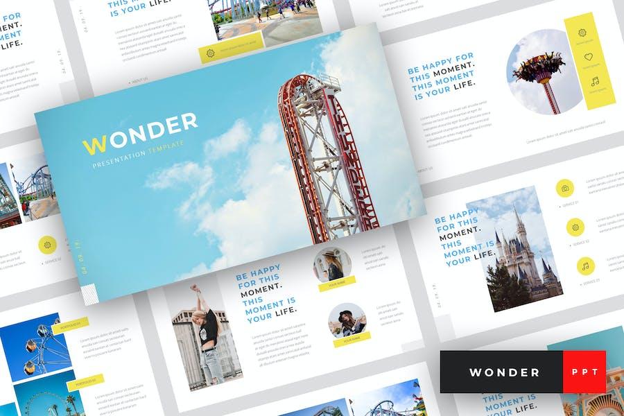 Wonder - Шаблон Тема парка PowerPoint
