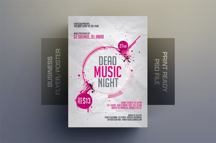 Thumbnail for Dead Music Flyer