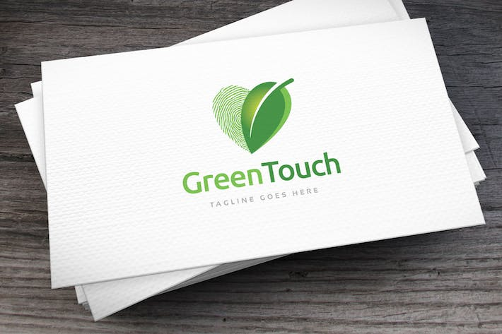 Thumbnail for Green Touch Logo Template