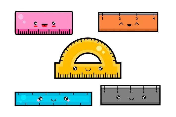 Thumbnail for Kawaii Ruler Set