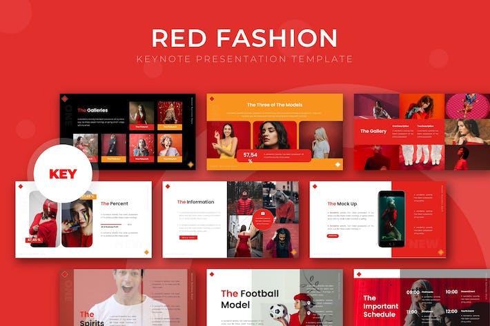 Красная мода - Шаблон Keynote