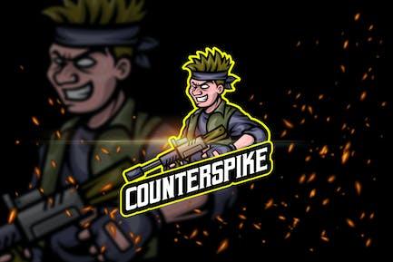 Counter Spike - Shooter eSport Logo Template
