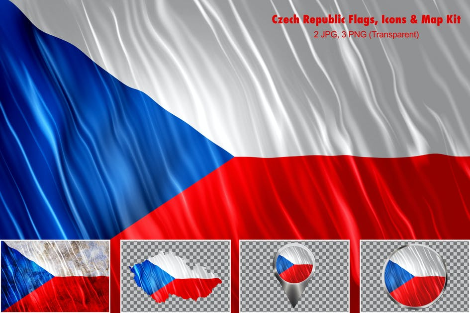Download Czech Republic Flags Icons Map Kit by StrokeVorkz